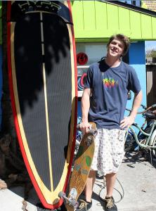 Jonathan from Buffallo, NY spending his sping break skateboarding in paradise.