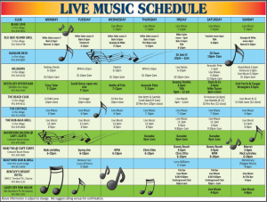 Music Schedule for September 2013