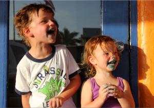 Shawn and Rosie from Sarasota enjoying ice cream at Orange Octopus 1