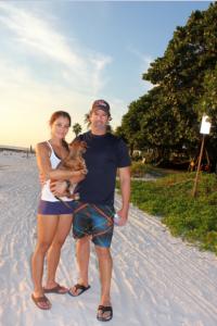 Maritza and Robert, Oscar (the dog) from the East Coast of FL