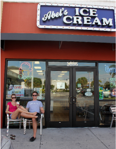 Matthew and Ashley at Abel's Ice Cream