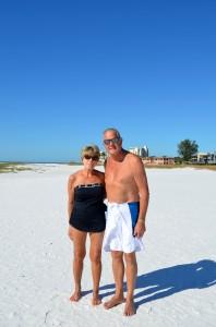 Marilyn and Tim rom Sarasota celebrating their 8 month anniversary