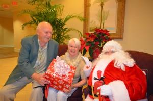 Ray, Norma and Santa at Bay Village