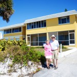 Bonnie and John from Toronto taking a stroll along Beach Rd. looking for next year's rental. Considering the one they took the photo in from of...that may be the one