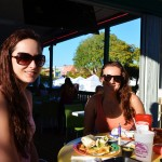 Emily and Shannon from SRQ enjoying lunch at Daiquiri Deck
