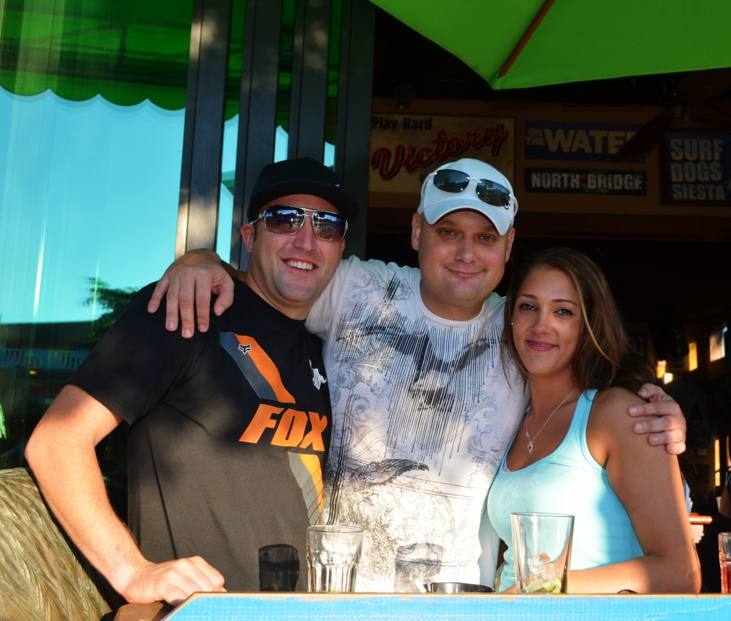 Robbie, James, Jennifer from Sarasota checking out some of the great bars on SK