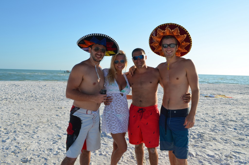 Sam from Tampa, Allison from TX, Andrew, Eric-all the guys are students at USF and Allison from Ole Miss.