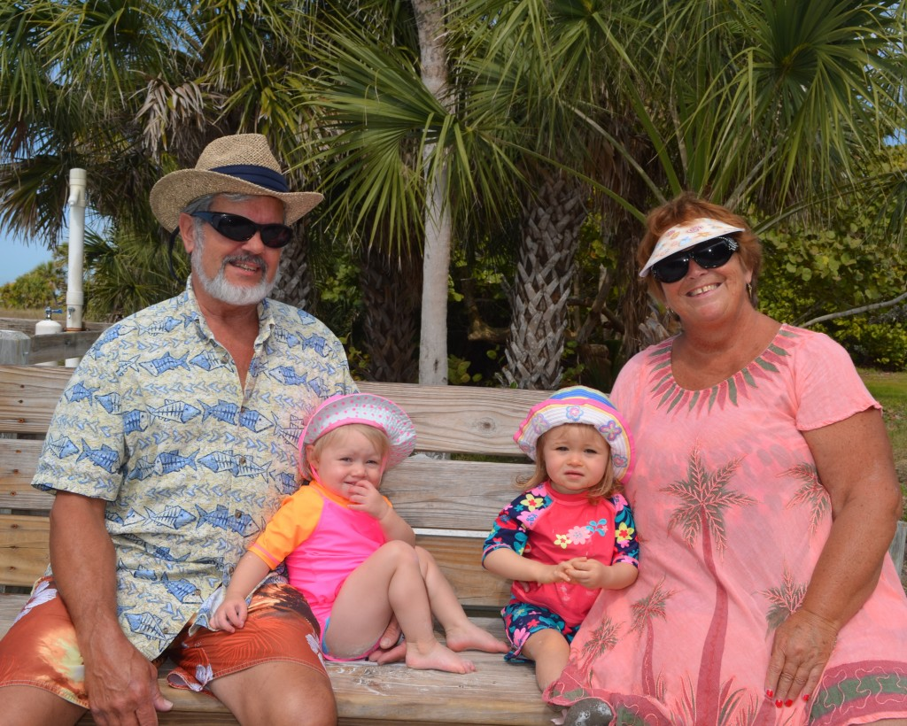 Sheldon from MI, making some memories at SK beach with their grandchildren who live in Sarasota. Maribel(17mos) and Aubrey(20mos) and grandma Shirley also from MI