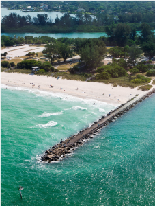 Aerial view of North Jetty Park, Venice Beach (photo credit B. Paul Petterson)