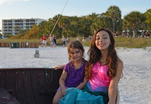 Lacey from SRQ with Ariel, the little mermaid and yes, Ariel is her real name!