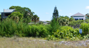 View of the vacant lot located near beach access #4