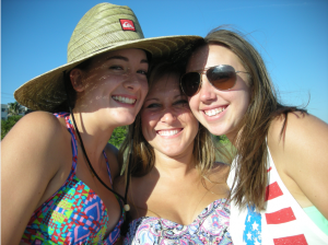 FRIENDS ON THE BEACH Olivia Augustine (15), Marisa Freedman (16) and Casey Kabobel (16) of Sarasota, enjoying a day together on magnificent Siesta Beach. They come to the beach as often as possible, just to hang out and get some sun. photos by Trebor Britt