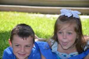 Riley, Katlyn (siblings) enjoying the SK area for the week.