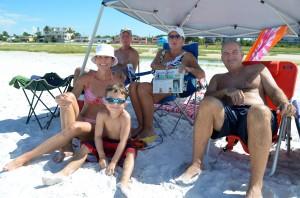 front row left to rt. Jana, Aidan age 6 and Matt – back row John, Sherry all from Tampa