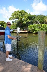 Rick from TN – enjoying some relaxing fishing on the water behind SK village.