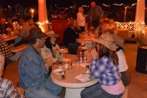 The cowboy grub served included beef ribs, beef roast, beans and a host of other delectable choices. A far cry from the hard biscuits and beans usually served on the trail.