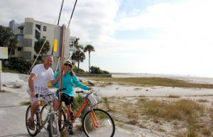 Chris and Lori from Englewood, enjoying a bike ride on Beach Rd, SK…