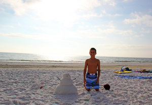 Tylor from MN. Photo op, with a SK snowman! J