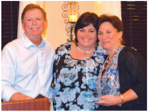 Mark Smith, Alana Tomasso with Maria Bankemper, owner of  Best Western Plus – Siesta Key Recipient of the Large Business of the Year Award