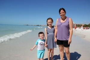 Cameron age 3, Leigh, Emma age 9 from Sarasota