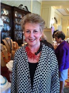 Long time customer and friend Gayle Preiser wearing Diana K design at Ritz Carlton trunk show.