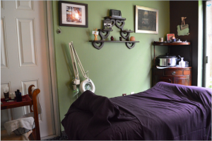 There are three treatment rooms at Massage Experience, two of which have garden atrium views.
