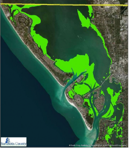 Extent of seagrass in Sarasota Bay (2012)