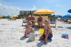 Scott & Mindy (back row) Mason age 3, Harper age 6 (front) from IL.