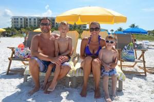 Scott, Harper age 6, Mindy, Mason age 3 from IL.