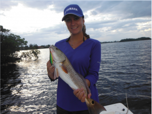 Jessica Dean with a September Siesta Key redfish