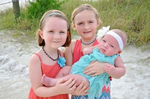 Riley age 4, Lily age 6, and Aubrey 5 months from Sarasota