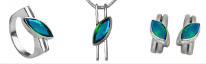 PHOTO PROVIDED BY MONICA GALFRE/SILVER CITY The Silver City Watercolor Gemstone Collection is made especially for the shop, and is inspired by the blue-green waters of the Gulf of Mexico.