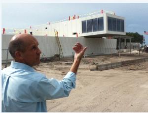 Sarasota County Project Manager Brad Gaubatz describes the work remaining on the $21 million Siesta Beach Park project