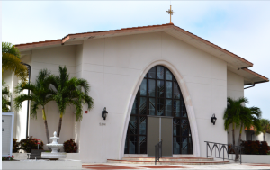 St. Michael the Archangel is one of three churches, and the only Catholic church, on Siesta Key