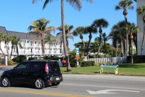County plans call for improvements to the SCAT stops on Beach Road near the public beach. News Leader photo