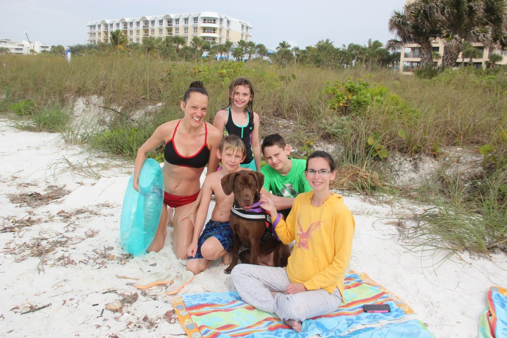 Elle, Alex age 10, Isabelle age 9, Tristan age 11, Sherri, Saddie (service pup in training) all from MN. 3048, 50, 55 – Stephano from Brazil, Ali from Orlando. (Students at UCF)