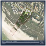 A county graphic shows a concept plan for Beach Access 7 unveiled in September 2012. County photo