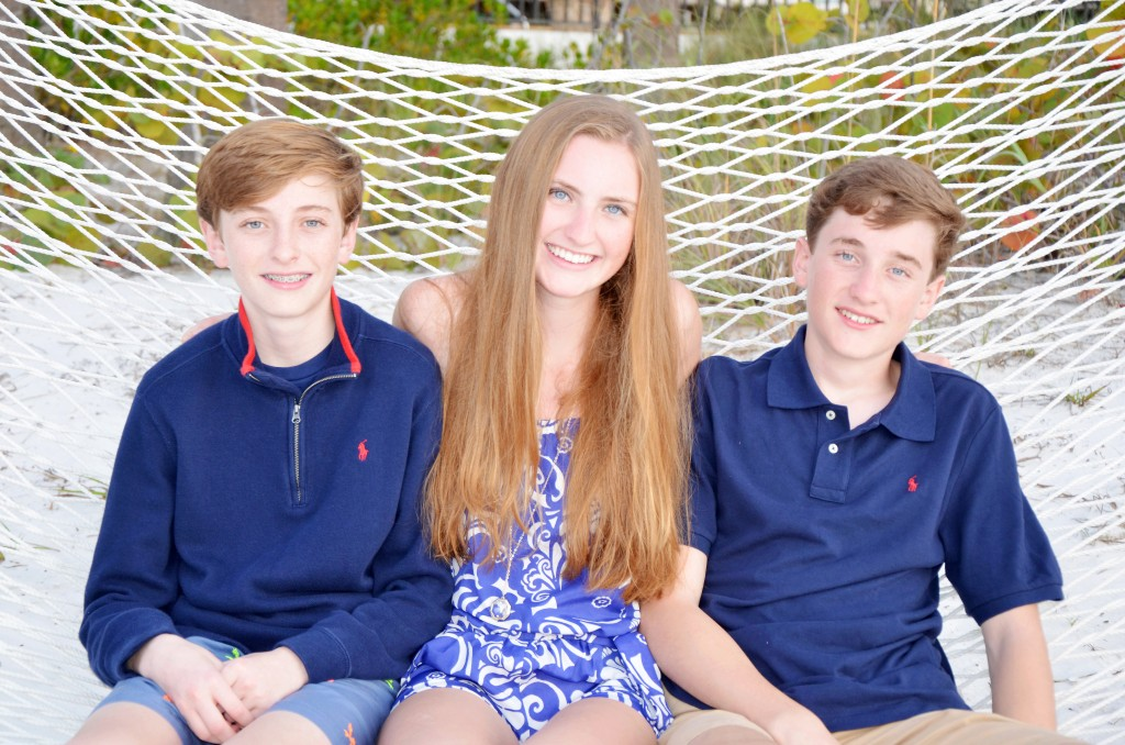 Emmet age 14, Kate age 17, Kevin age 16 from NY