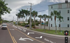 A street view of 1136 Windsong Lane shows the fence close to Midnight Pass Road. Image from Google Maps