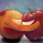 Apples and Orange by: Ashly Lovett, West Monroe, Louisiana. Teacher: Ringling College of Art + Design, Mike Hodges