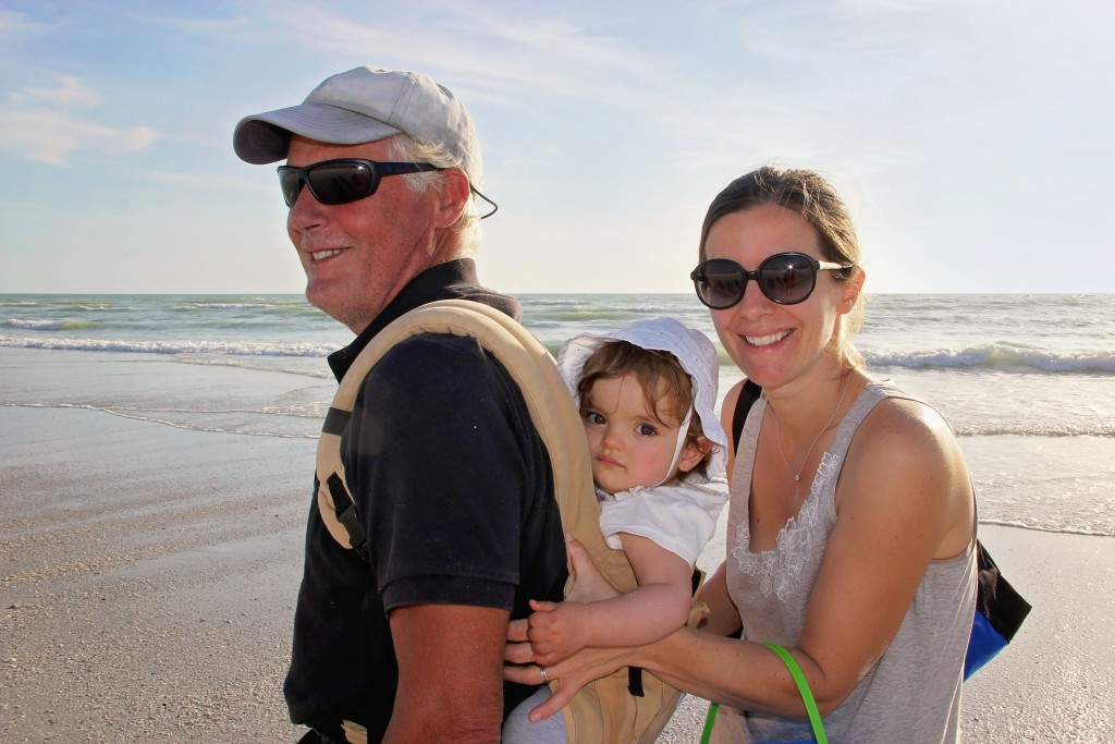 Rene from SK, his granddaughter Leah (15 months) and her mom