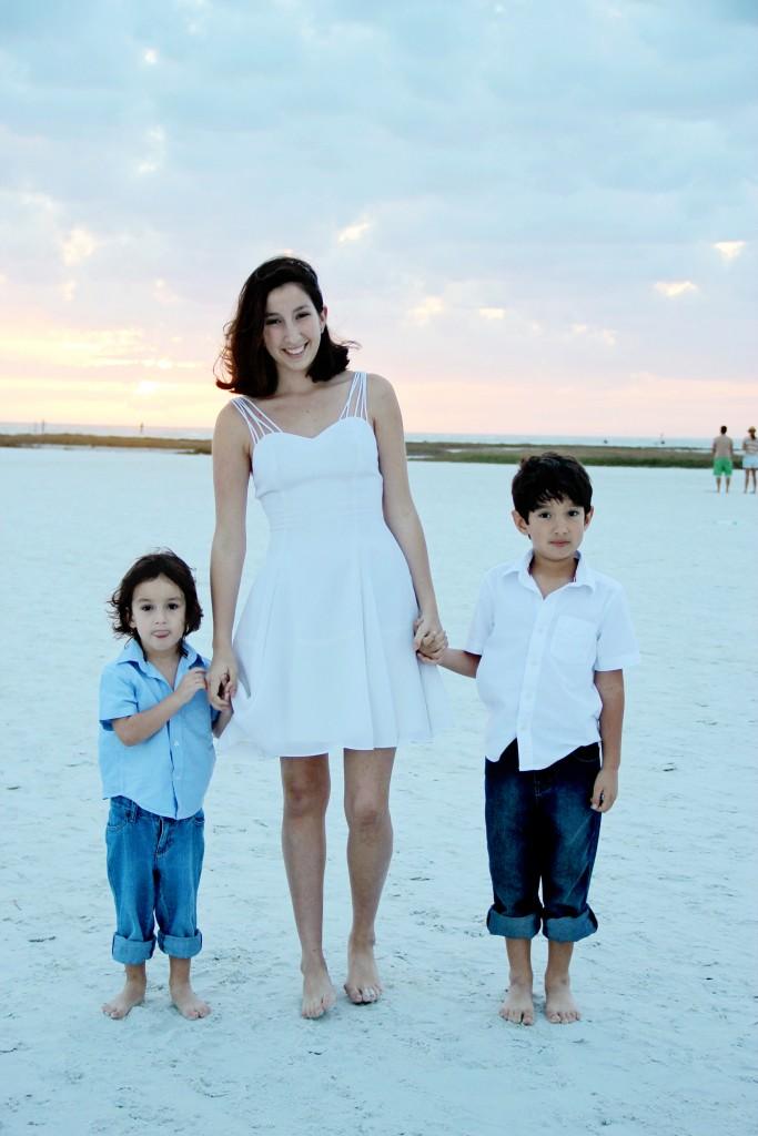 Liam age 3, Jennifer, Nathan age 6 from Sarasota