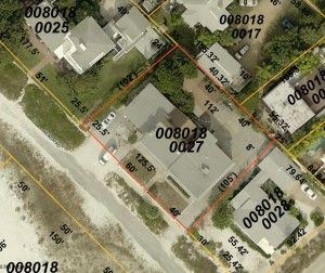 A graphic from the county Property Appraiser's Office shows an aerial view of the Madden parcels with the buildings.