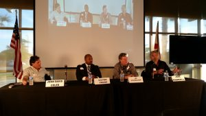 Guest panel share their experiences at the Suncoast Technical College