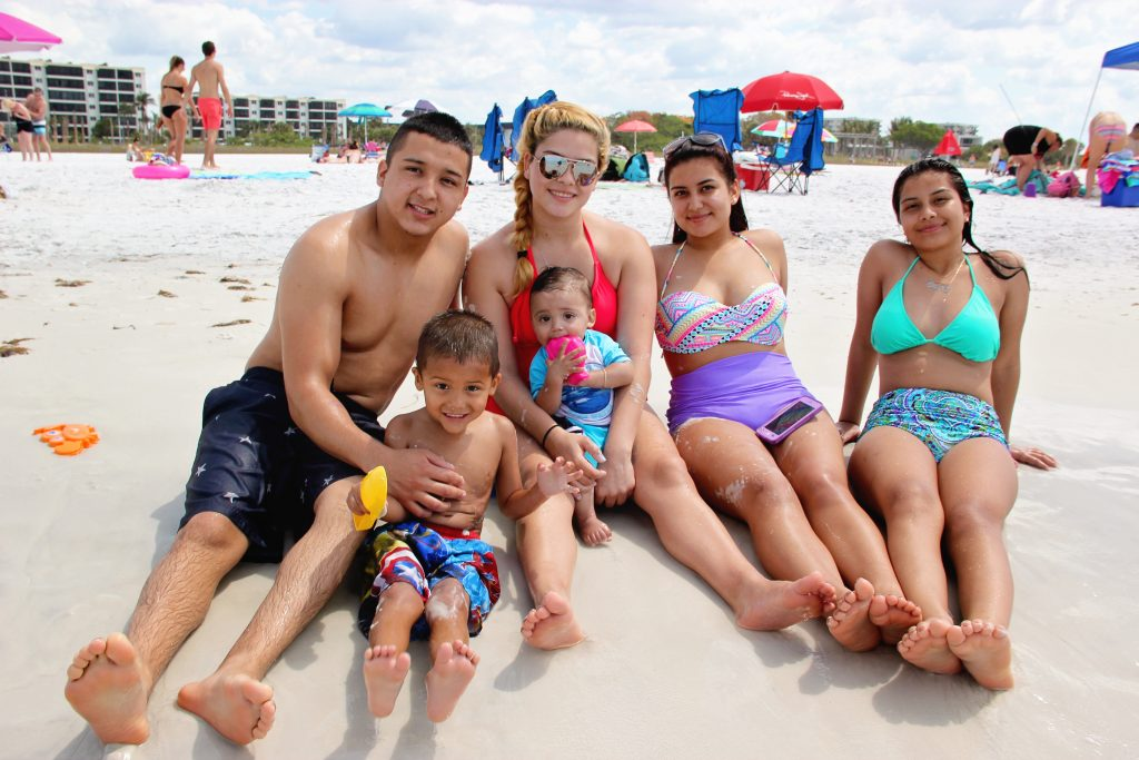 Brandon, Yarensi, Valentin age 9, Brandon age 3, Ana, Kimberly from Lake Placid