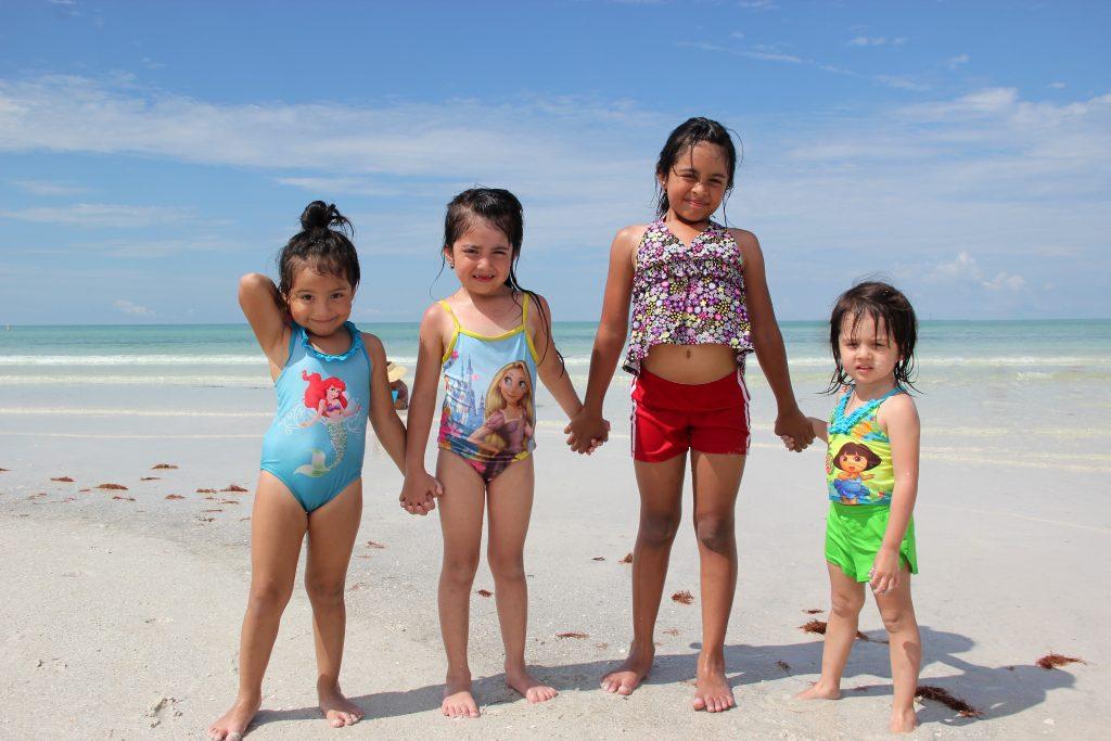 Noelia age 4, Naomi age 6, Ebony age 8, Georgia 2