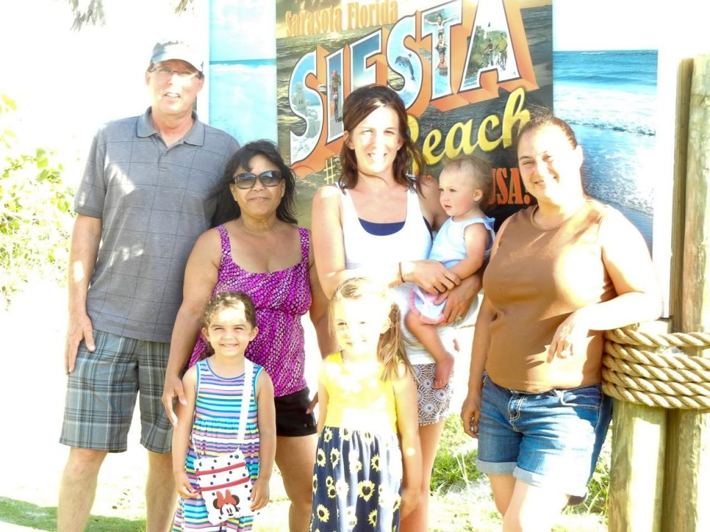 A private investment group's first visit to the #1 Beach in search of ocean front propery. Jim and Jane from Cave Creek, AZ along with granddaughter, Mackenzie (4) from Veienna, VA, Angela, Lainey (1), Madison (4) from Bartonville, IL and Brenda from Benson, IL.