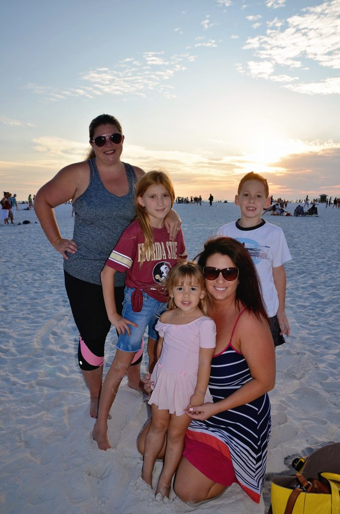 Melissa, Katelyn age 10, Aiden age 7, Lulu age 3, Kristen from Sarasota