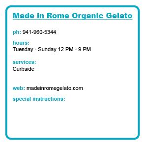 Made in Rome Organic Gelato