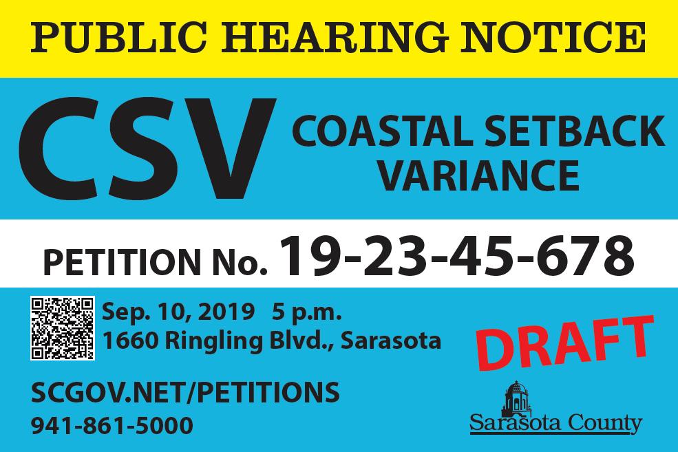public signage hearing